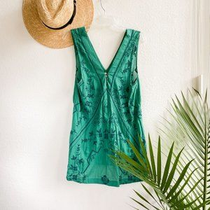 free people intimately green embroidered dress